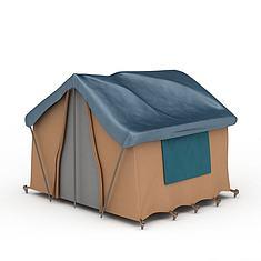 野外露营帐篷3D模型3d模型