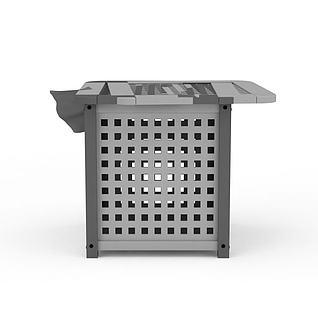 脏衣篓3d模型