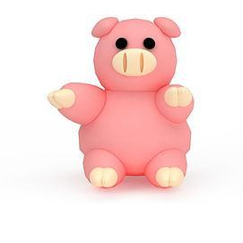 3d粉色小<font class='myIsRed'>猪</font>玩具模型