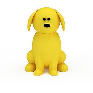 黄色玩具小狗3d模型3d模型