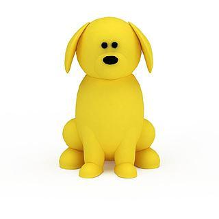 黄色玩具小<font class='myIsRed'>狗</font>3d模型