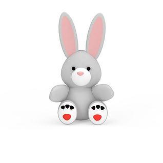 儿童毛绒玩具小兔3d模型3d模型