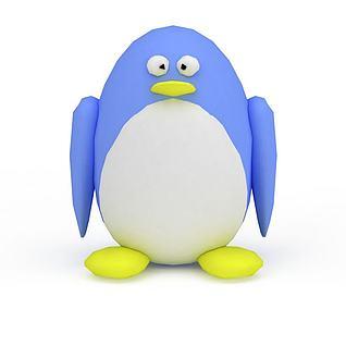 企鹅毛绒玩具3d模型3d模型