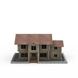泰式木屋别墅3d模型