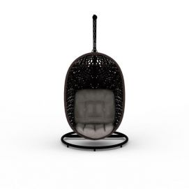 现代黑色编织沙发吊椅3d模型