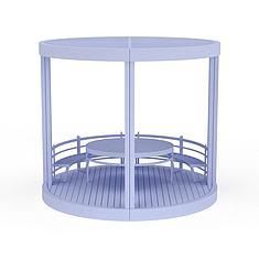 天蓝色建筑凉亭3D模型3d模型