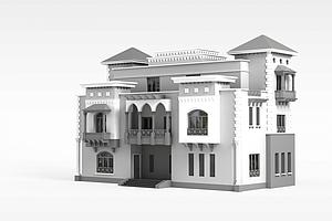 别墅小楼模型3d模型