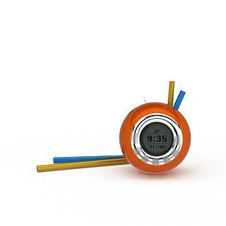 创意蜗牛造型电子表闹钟3d模型