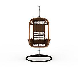 时尚休闲编织吊椅3d模型