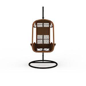 3d時尚休閑編織吊椅模型