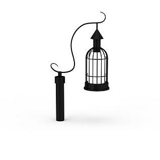 欧式黑色庭院灯路灯3d模型