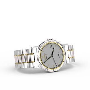 男士石英手表3d模型