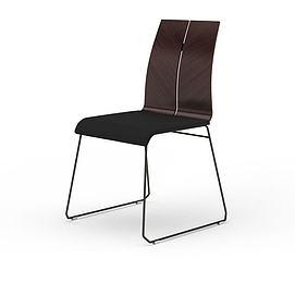 木纹餐椅3d模型