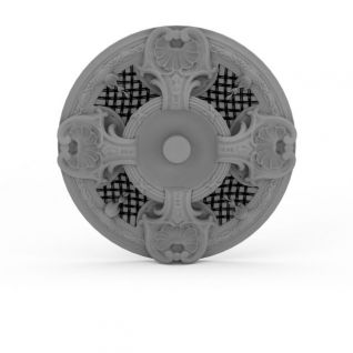 圆形pu雕花石膏3d模型