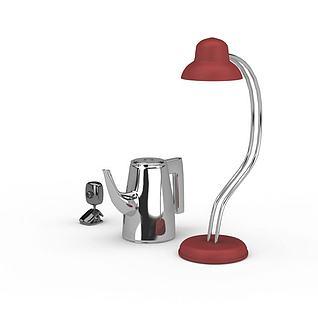 台灯不锈钢水壶3d模型