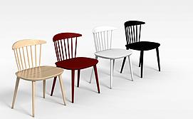 现代时尚扶手凳3d模型