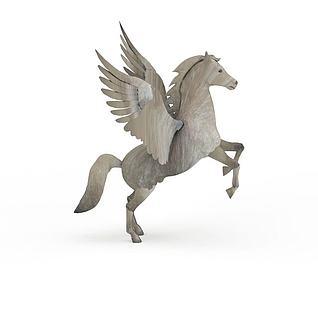 飞马园林雕塑3d模型