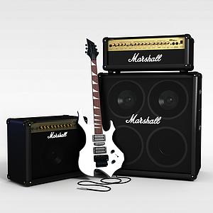 音乐设备音响吉他模型