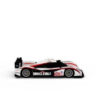 aston炫酷红白拼色赛车3d模型3d模型
