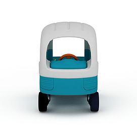 塑胶玩具小汽车3d模型