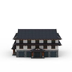 明清时代房屋建筑楼模型3d模型