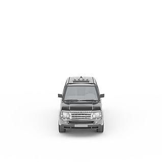 灰色路虎汽车3d模型