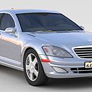 灰色奔驰小汽车模型