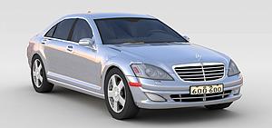 3d灰色奔驰<font class='myIsRed'>小汽车</font>模型