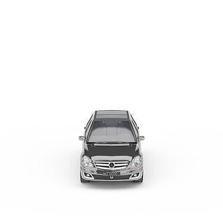 灰色奔驰车3d模型3d模型