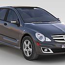 灰色奔驰车模型