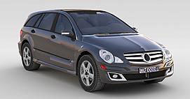 灰色奔驰车3d模型