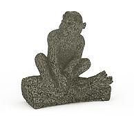 猴石雕3D模型3d模型