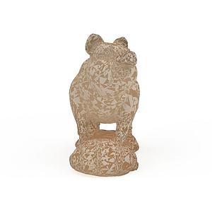 猪石雕3d模型