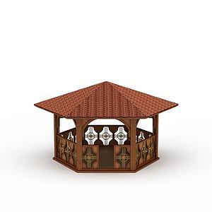 室外凉亭3d模型