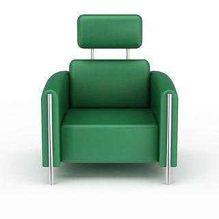单人休闲沙发椅3d模型
