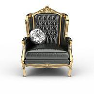 欧式豪华真皮坐椅沙发3D模型3d模型