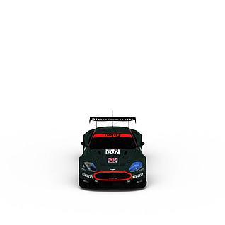 aston墨绿色赛车3d模型3d模型