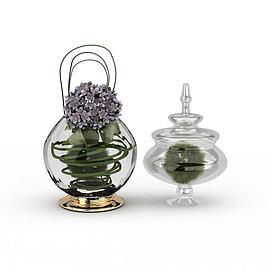 3d创意<font class='myIsRed'>灯笼</font>状玻璃花瓶模型