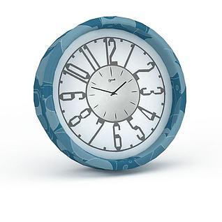 蓝色小闹钟3d模型