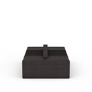 皮具收纳盒子3d模型