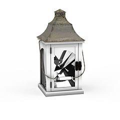 铁灯笼蜡烛灯烛台模型3d模型