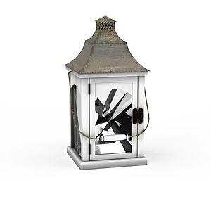 铁灯笼蜡烛灯烛台模型