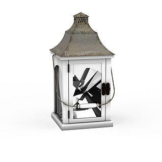 铁灯笼蜡烛灯烛台3d模型
