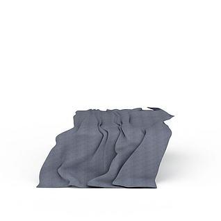 灰色布料3d模型