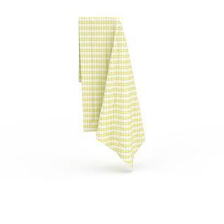 黄条纹方巾3d模型