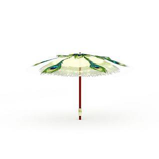 游戏场景雨伞3d模型