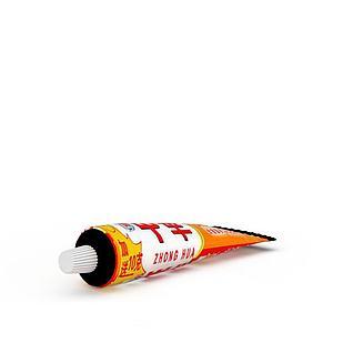 中华牙膏3d模型