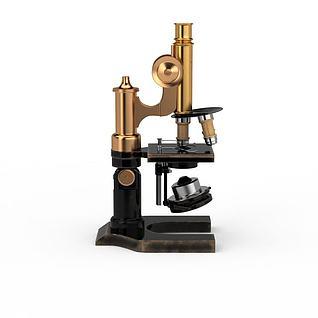 高档显微镜3d模型