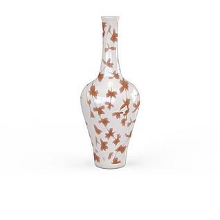 精美陶瓷印花花瓶3d模型
