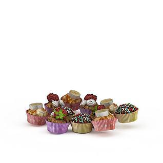 甜点3d模型